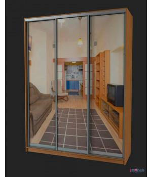 Шкаф-купе с 3 зеркальными дверями