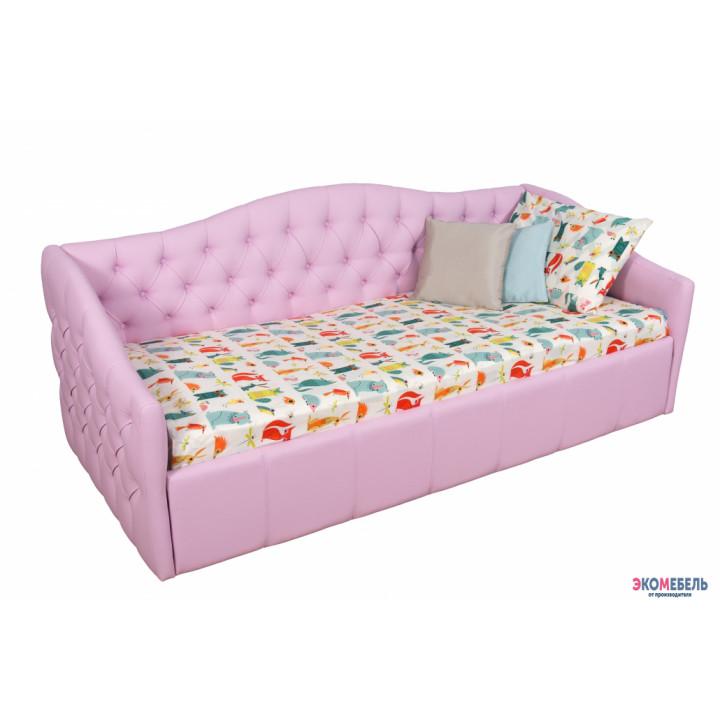 Кровать детская Люси розовая