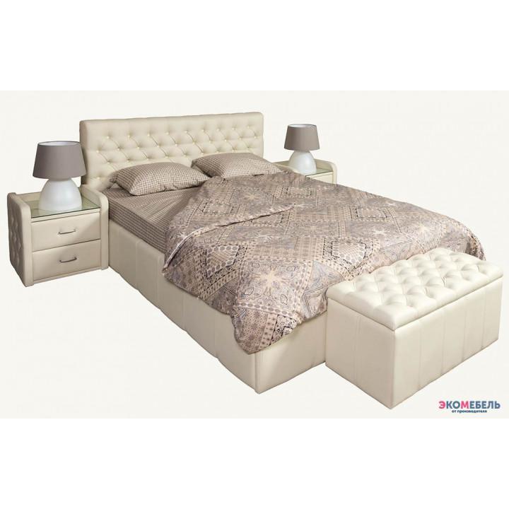Кровать Диор-Люкс изголовье каретная стяжка со стразами