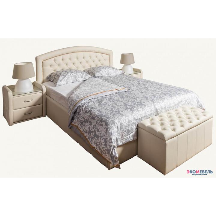 Кровать  Рапунцель изголовье каретная стяжка со стразами
