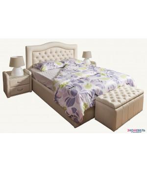 Тахта-кровать Линда изголовье каретная стяжка со стразами