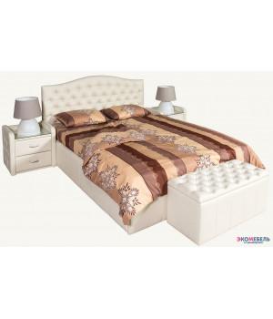 Тахта-кровать Алекс изголовье каретная стяжка со стразами