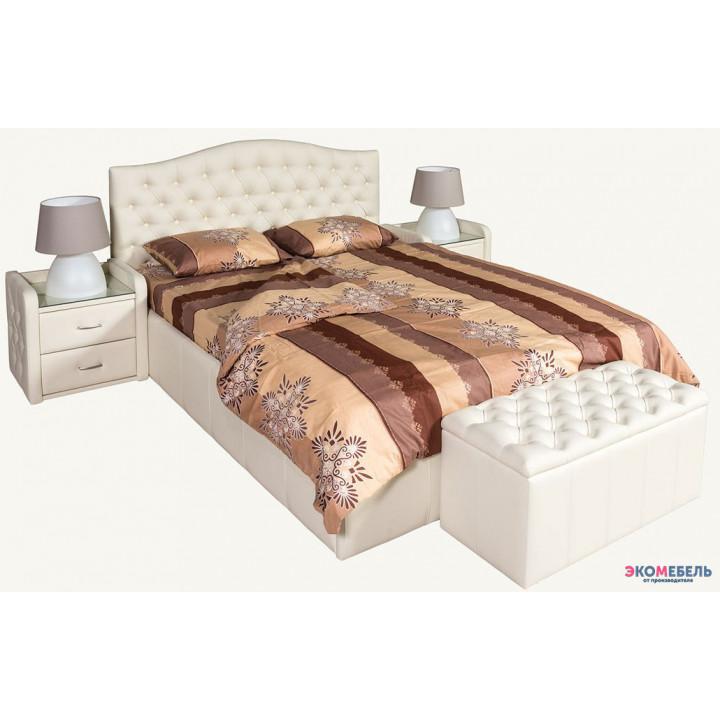 Кровать Алекс изголовье каретная стяжка со стразами