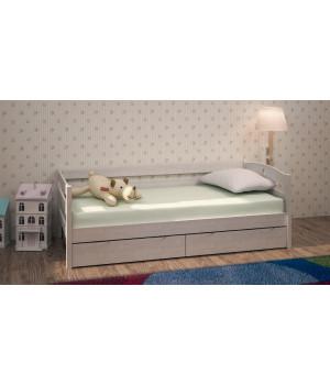 """Кровать детская """"Алешка"""" с ящиками из массива дерева"""