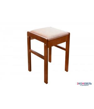 Табурет «Лампас» с мягким сиденьем из массива