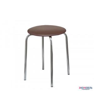 Табурет «Хром» с мягким сиденьем из массива